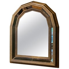 Vintage Mirror in Brass Wrapped Frame