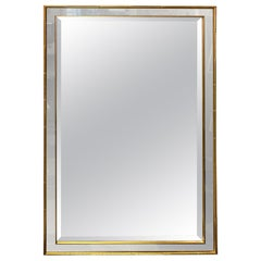 Vintage Mirror with Faux Bamboo Frame in Gold