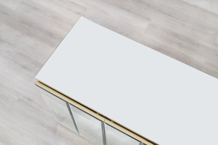Vintage Mirrored and Glass Credenza by Ello For Sale 6