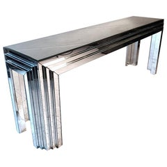 Vintage Mirrored Console or Hallway Table
