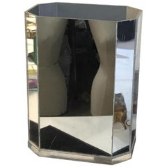 Vintage Mirrored Planter or Waste Bin