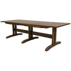 Vintage Mission Arts & Crafts Style Oak Coffee Table