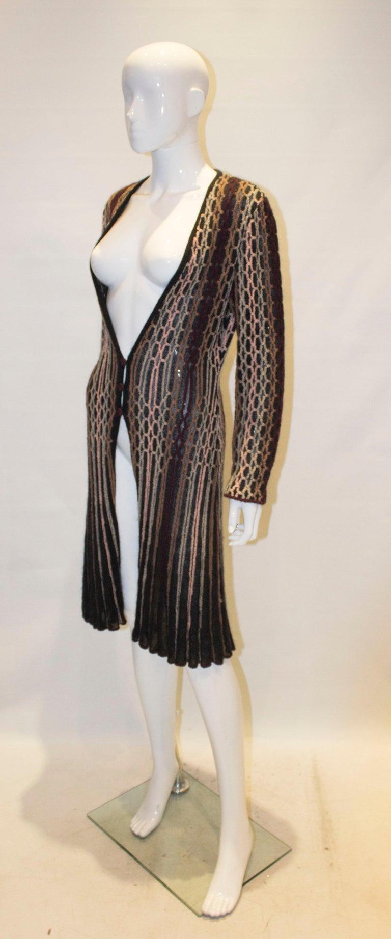 Black Vintage Missoni Brown Label Cardigan / Jacket  For Sale