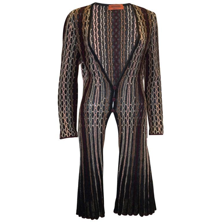 Vintage Missoni Brown Label Cardigan / Jacket  For Sale
