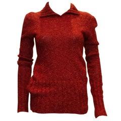 Vintage Missoni Brown Label Rust Red Wool Jumper