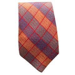 Vintage Missoni checked coloured tie in silk