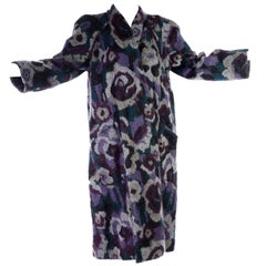Vintage Missoni Reversible Floral Knit Mohair Alpaca Blend & Black Puffer Coat