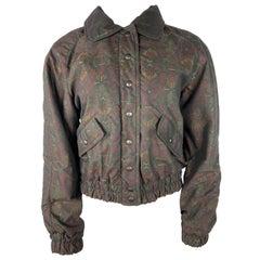 Vintage Missoni Sport Black/ Brown Floral Jacket