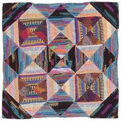 Vintage Missoni Textile. Size: 2 ft x 2 ft (0.61 m x 0.61 m)
