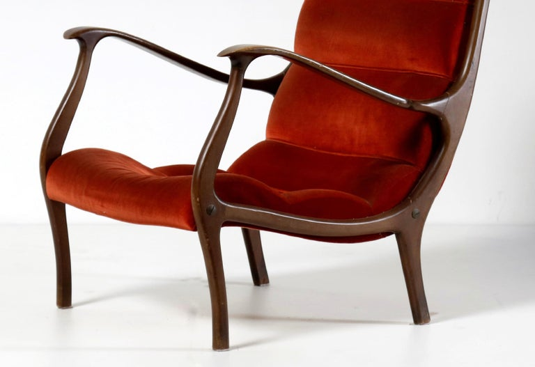 Vintage Mitzi Armchair by Ezio Longhi for Elam, 1960s In Good Condition For Sale In Roma, IT
