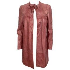 Vintage Miu Miu Pink Leather Coat