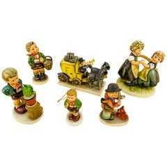 Vintage M I Hummel Goebel Original Figurines, Set of 6 Pcs