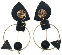 Vintage Mobile Style Modernist Geometric Earrings