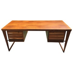 Vintage 'Model 70' Santos Rosewood Desk by Kai Kristiansen for Feldballes Mobel