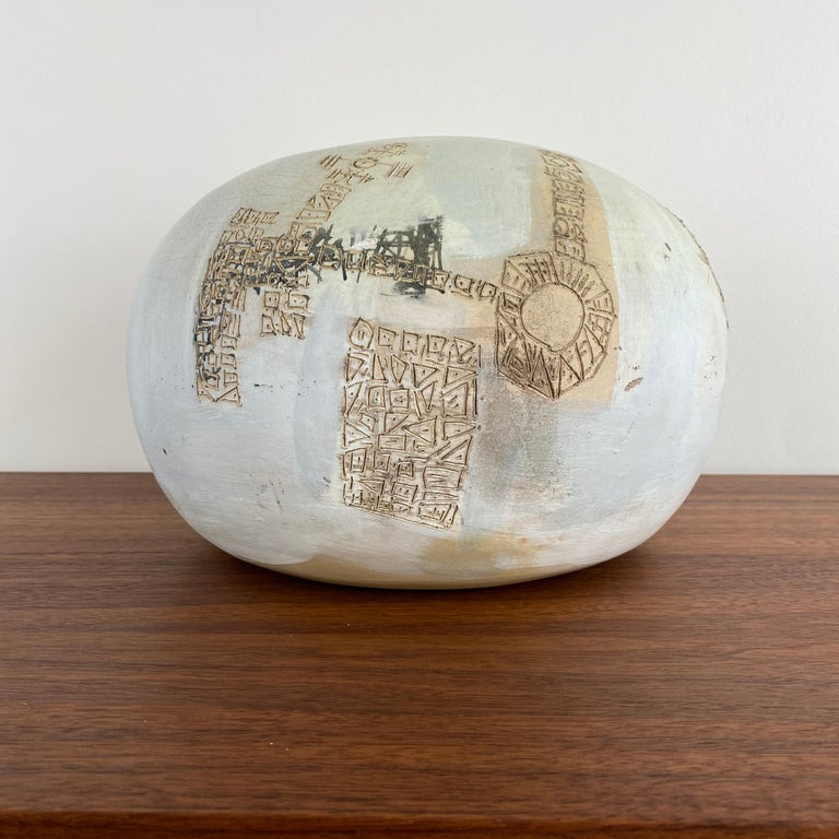 Unknown VIntage Modern Abstract Ceramic Pottery Vase