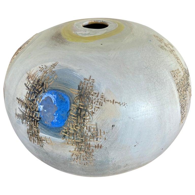 VIntage Modern Abstract Ceramic Pottery Vase