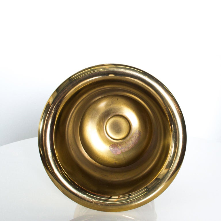 Brass Tommi Parzinger Golden Champagne Bucket, Wine Cooler, Ice Bucket   Mod 1960s For Sale
