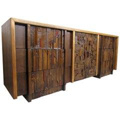 Vintage Modern Brutalist Lane Dresser