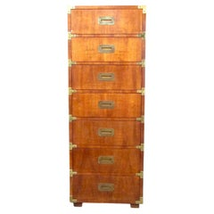 Vintage Modern Campaign-Style Lingerie Chest by Henredon