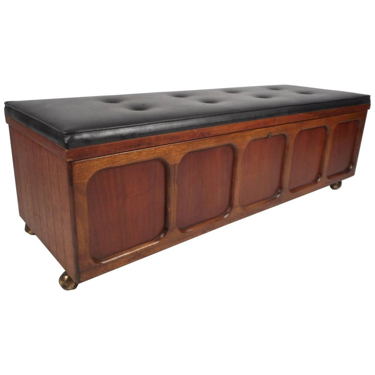 Vintage Modern Cedar Chest Bench By Lane Furniture For