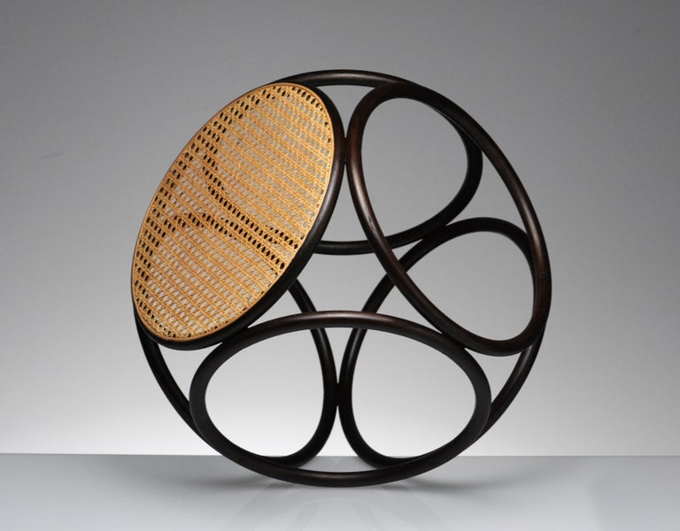 Sculptural bentwood stool by Thonet. Great versatile style, can be used as small side table as well.