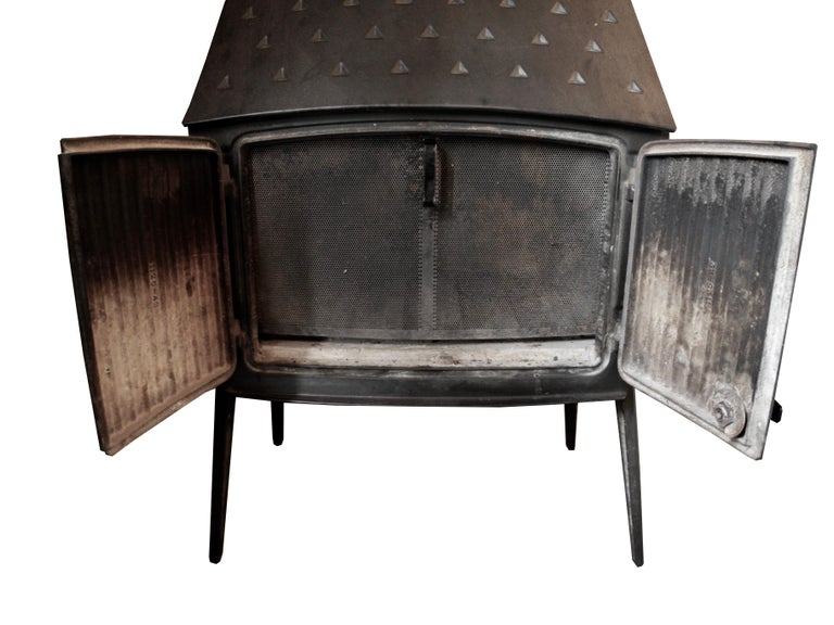 Vintage Modern Danish Black Cast Iron Wood Stove and Fireplace by Morsø, Denmark For Sale 2