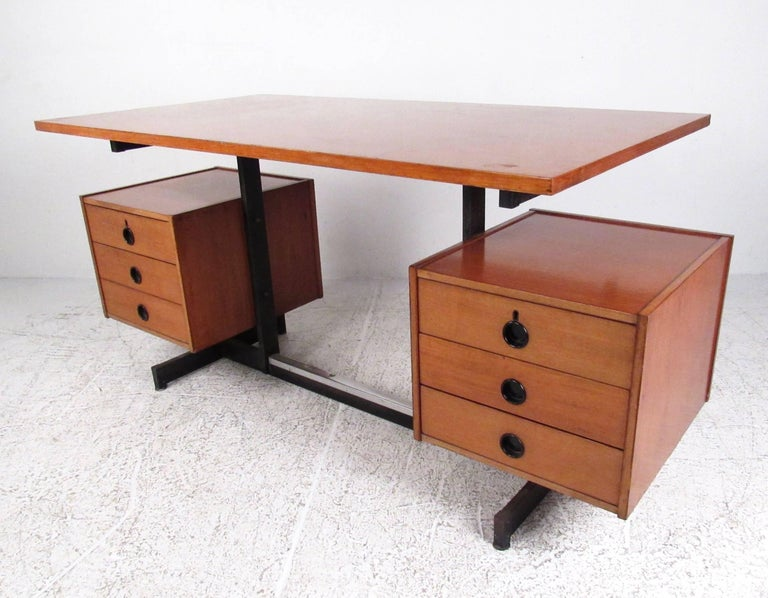 Italian Vintage Modern Floating Top Desk For Sale