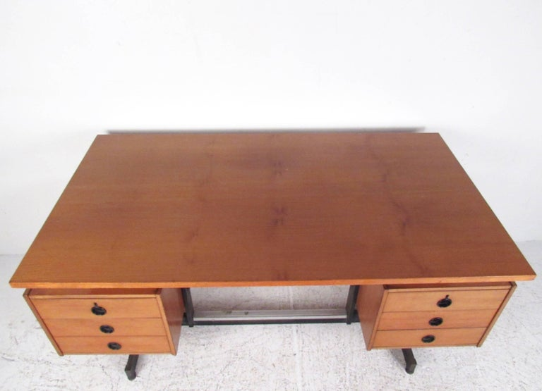 Mid-20th Century Vintage Modern Floating Top Desk For Sale