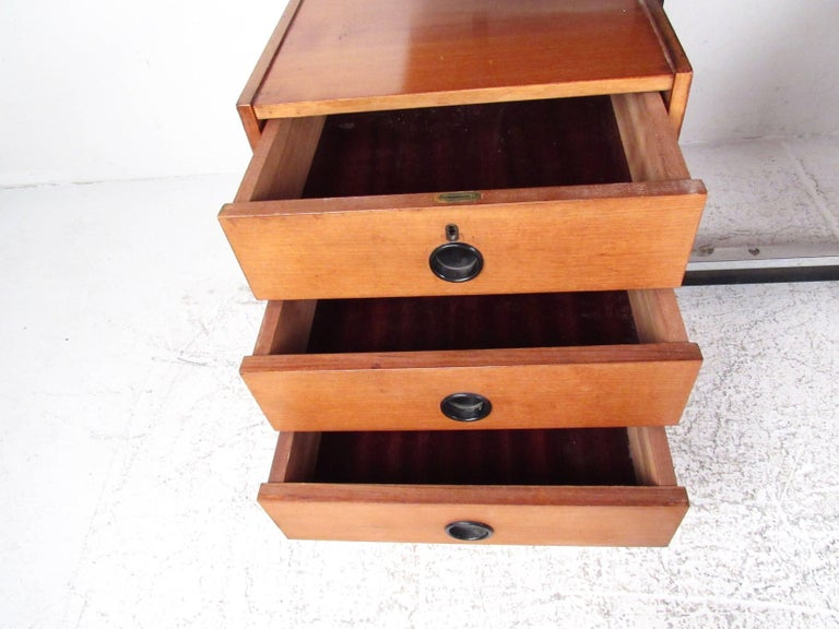 Vintage Modern Floating Top Desk For Sale 2