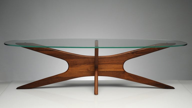 Vintage Modern Glass Abstract Sculpture Coffee Table by Adrian Pearsall In Excellent Condition For Sale In Washington, DC