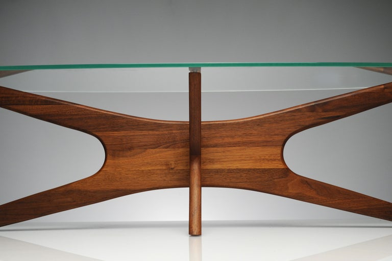 Mid-20th Century Vintage Modern Glass Abstract Sculpture Coffee Table by Adrian Pearsall For Sale
