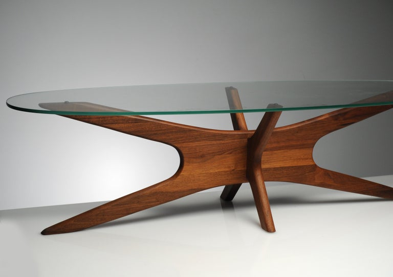 Vintage Modern Glass Abstract Sculpture Coffee Table by Adrian Pearsall For Sale 1