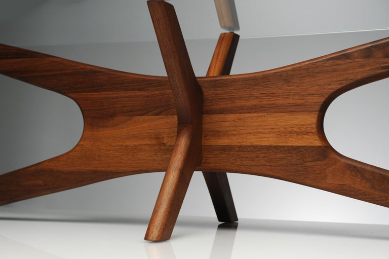 Vintage Modern Glass Abstract Sculpture Coffee Table by Adrian Pearsall For Sale 2