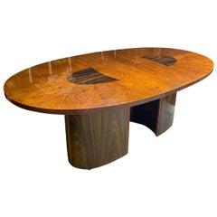 Vintage Modern Henredon Cherry Hardwood Dining Table
