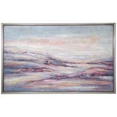 Vintage Modern Landscape Oil Painting