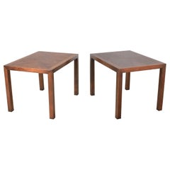 Vintage Modern Lane Parsons Style #1124-5 Walnut End or Side Tables, 1970, Pair
