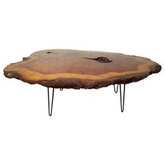 Vintage Modern Live Edge Coffee Table