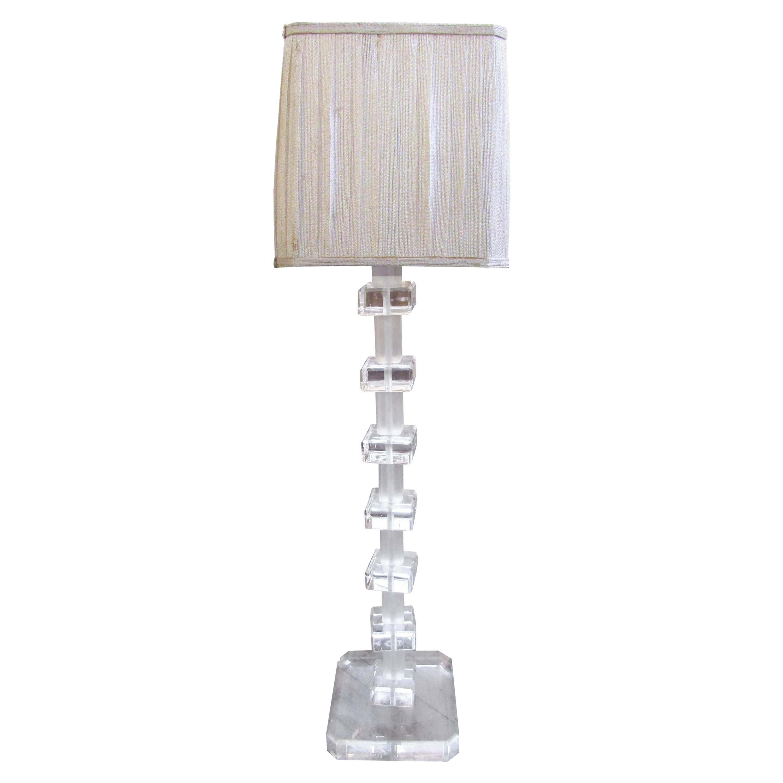 Vintage Modern Lucite Floor Lamp