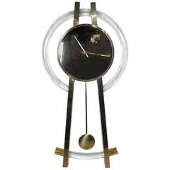 Vintage Modern Lucite Wall Clock