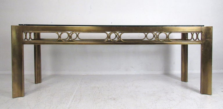 Mid-Century Modern Vintage Modern Mastercraft Console Table For Sale