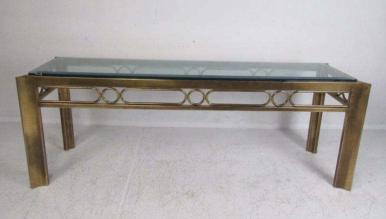 Vintage Modern Mastercraft Console Table In Good Condition For Sale In Brooklyn, NY