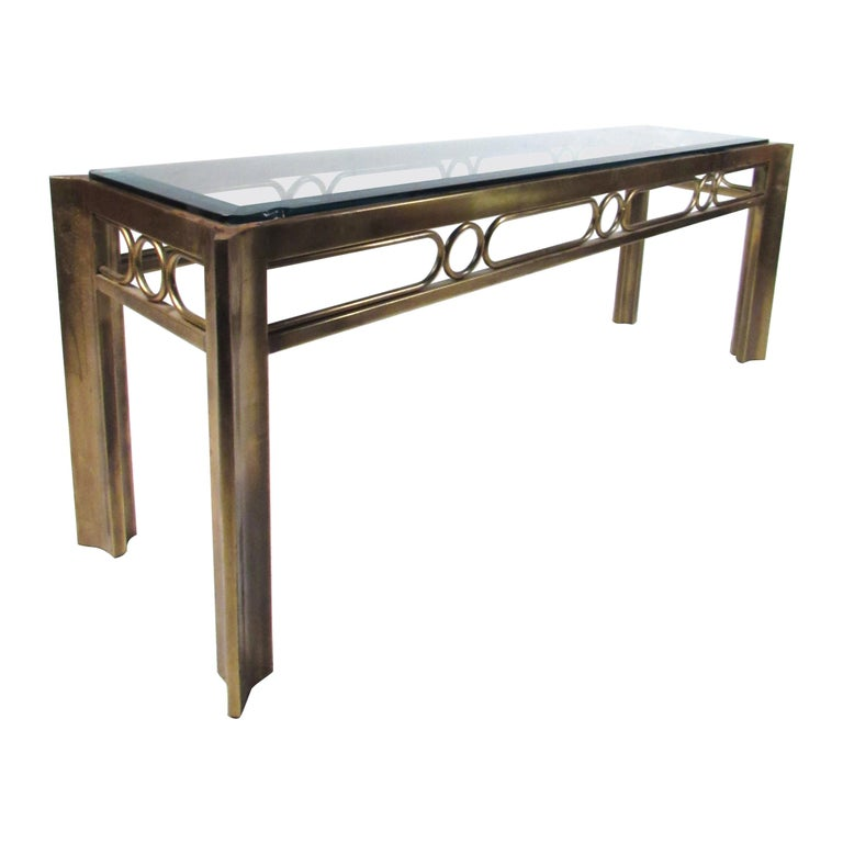 Vintage Modern Mastercraft Console Table For Sale