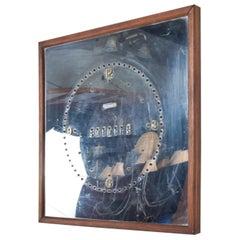 Vintage Modern Mirrored Digital Day Wall Clock, Del Mar CA