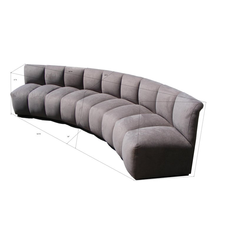 Upholstery Vintage Modern Monumental Non Stop Steve Chase Sectional Sofa For Sale