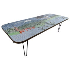 Vintage Modern Mosaic Coffee Table