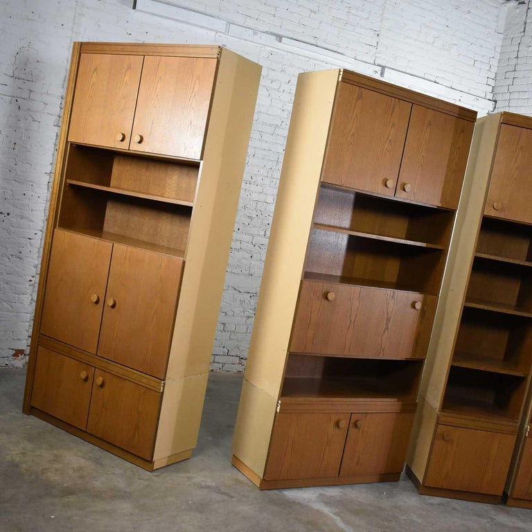 Vintage Modern Oak 4 Section Modular Wall Unit from Lord Series by Kämper Intl. For Sale 7