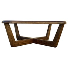Vintage Modern Oak and Glass Coffee Table