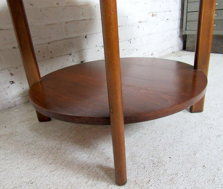 Vintage Modern Round Side Table by Lane 5