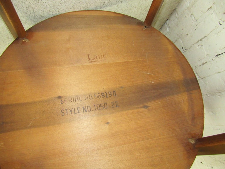 Vintage Modern Round Side Table by Lane 7