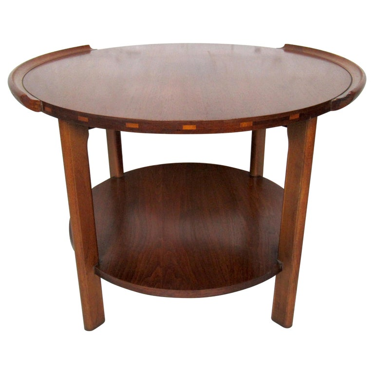 Vintage Modern Round Side Table by Lane